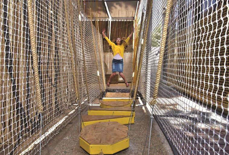 """מבוך מחווט. קיץ במוזיאון ישראל. צילום: בני מאור, יח""""צ"""