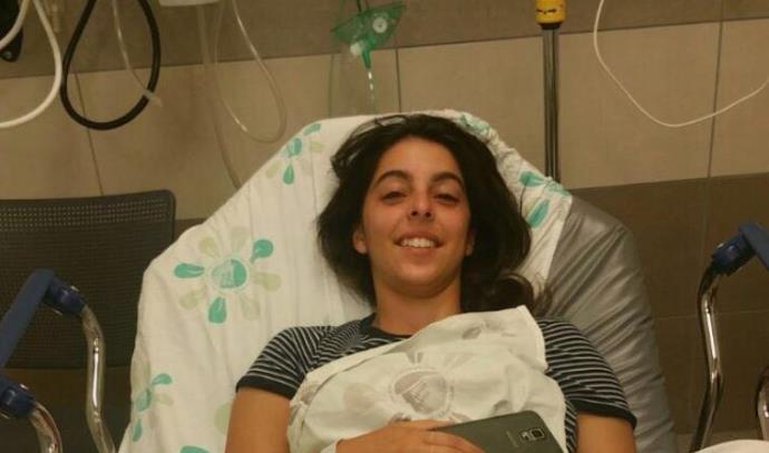 צעירה שנפצעה מיידוי אבן בעמק הירדן