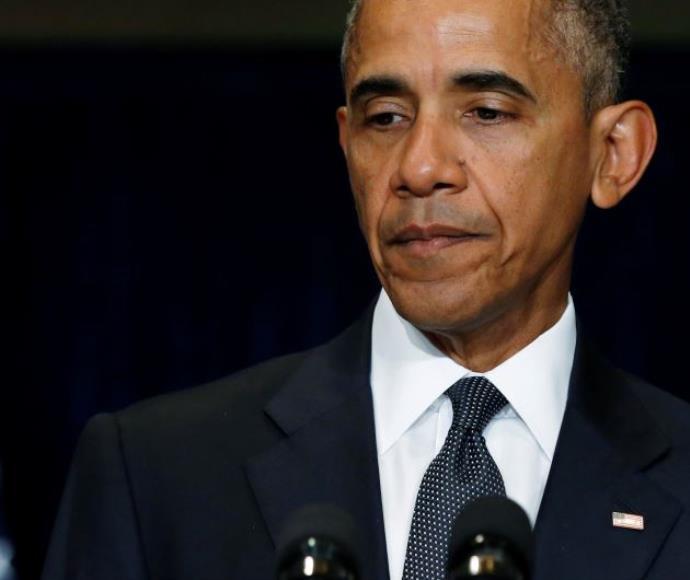 """נשיא ארה""""ב ברק אובמה, במסיבת עיתונאים על הירי בדאלאס"""