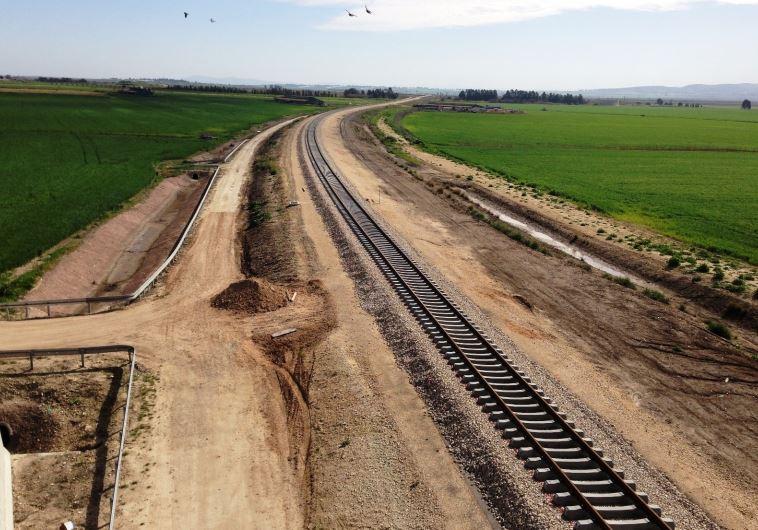 הבסיס לשלום אזורי? מסילת רכבת העמק החדשה. צילום: נתיבי ישראל