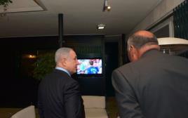 ראש הממשלה ושר החוץ המצרי צופים בגמר היורו