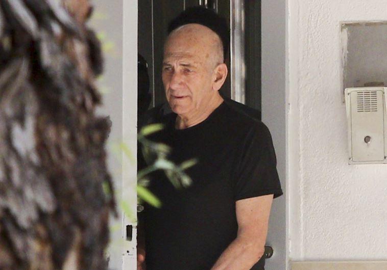 אהוד אולמרט יוצא לחופשה ראשונה מהכלא. צילום: אבי דישי, פלאש 90