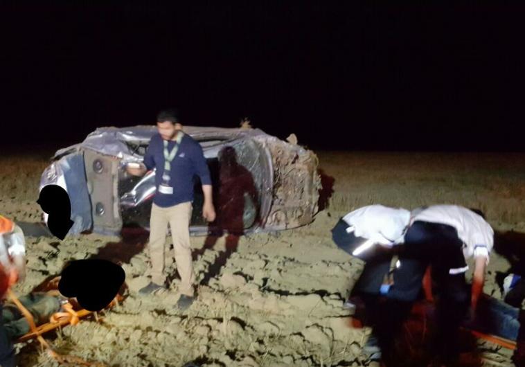 תאונה בבית קמה, צילום: דוברות מד''א