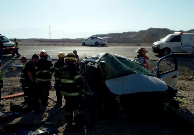 התאונה בכביש 90. צילום: דוברות מד''א