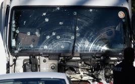 המשאית ששימשה את המחבל בפיגוע בניס, צרפת