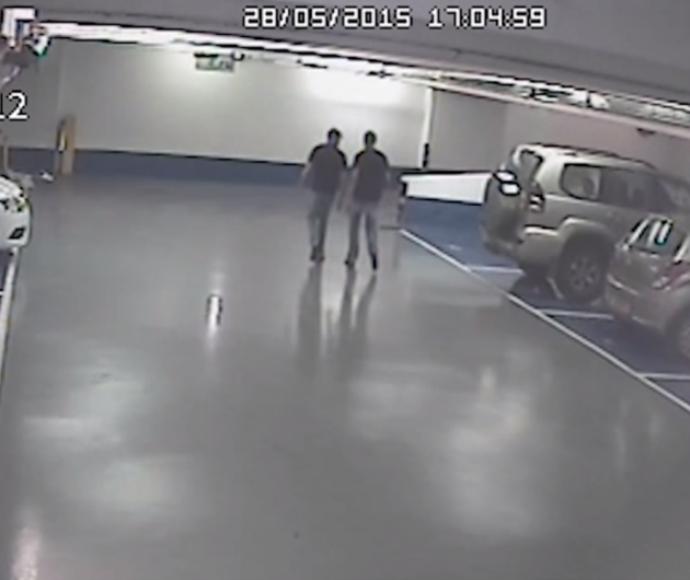 צילומים ממצלמת האבטחה ביום הרצח