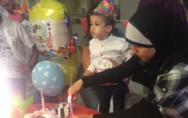 """אחמד דוואבשה חוגג יום הולדת בביה""""ח שיבא"""
