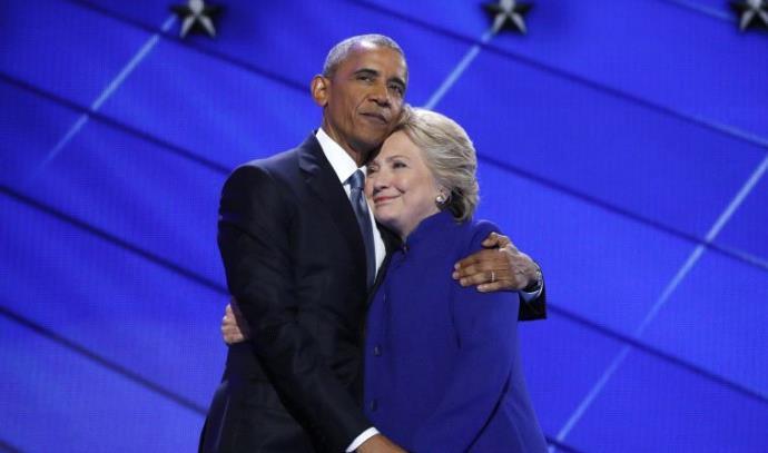 ברק אובמה והילרי קלינטון
