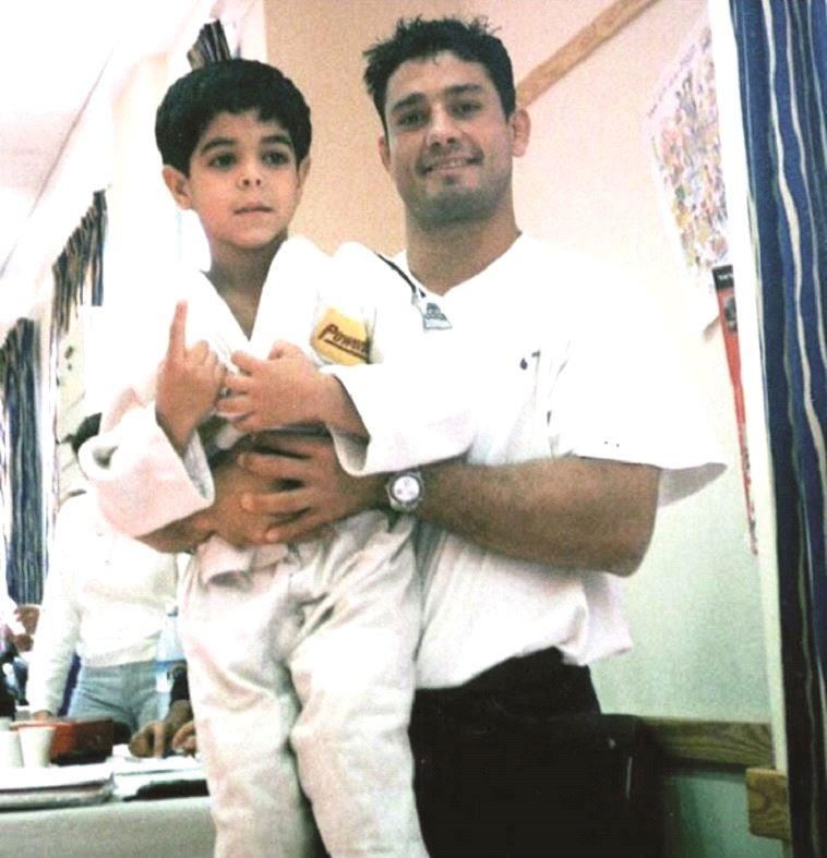 סמדג'ה עם שגיא מוקי הזאטוט. צילום: הוועד האולימפי הישראלי