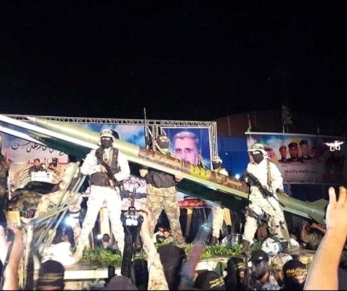 """הג'יהאד האסלאמי מציג את ה-""""S350"""""""