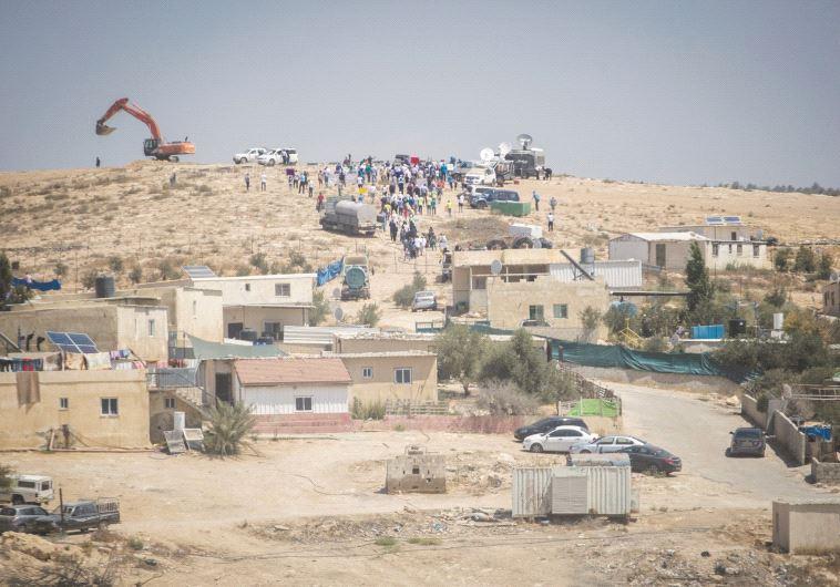 היישוב הבדואי אום אל חיראן. צילום: הדס פרוש, פלאש 90