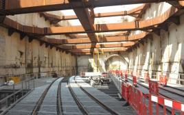 פיר הרכבת הקלה בתל אביב