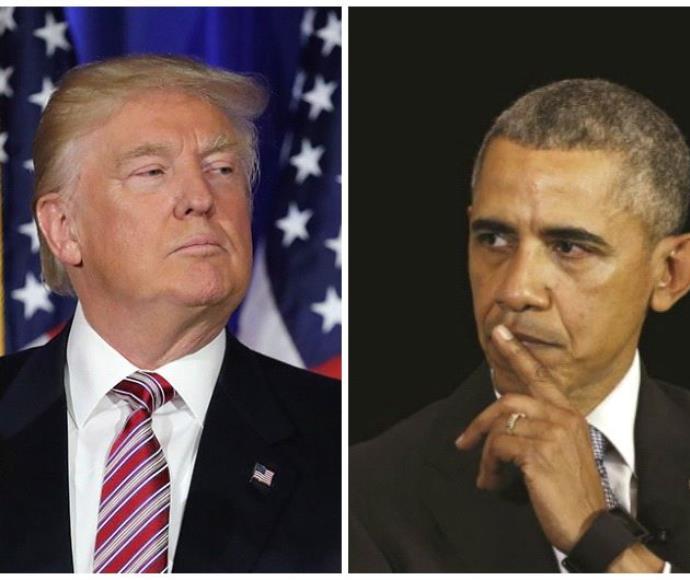 ברק אובמה ודונלד טראמפ