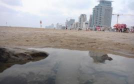 זיהום בחופי הים של תל אביב