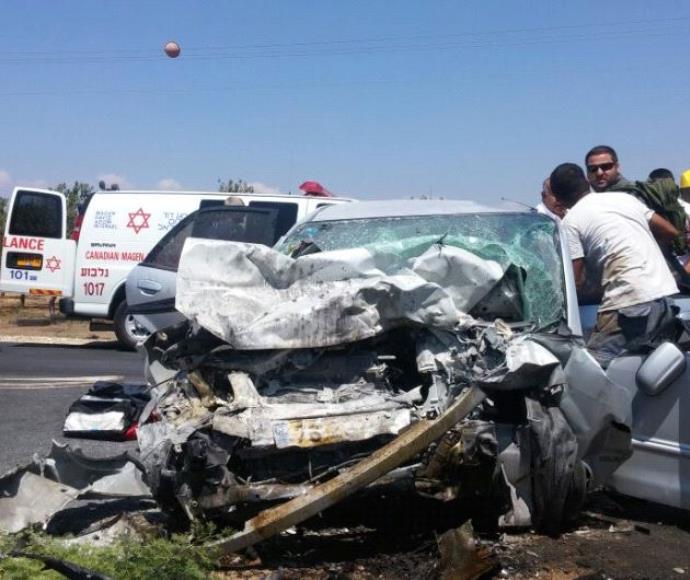 תאונת דרכים בצומת מגידו