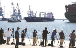 ספינת מטען טורקית נכנסת לנמל אשדוד