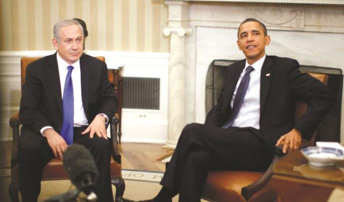 ברק אובמה ובנימין נתניהו בבית הלבן ב-2012