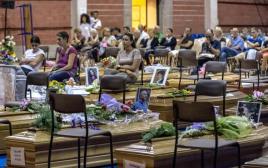 ארונות קורבנות רעידת האדמה באיטליה
