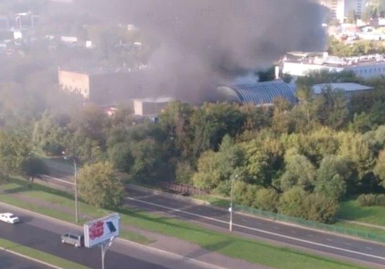 שריפה במפעל במוסקבה