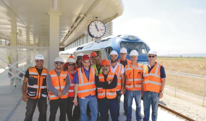בכירי פרויקט רכבת העמק בחברת נתיבי ישראל