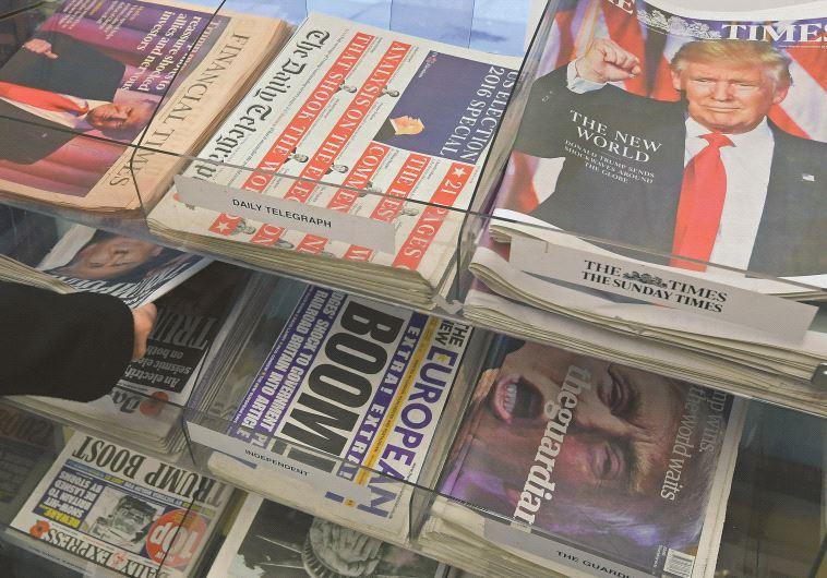 הדוכנים ביום שאחרי הבחירות בארה''ב (צילום: רויטרס)