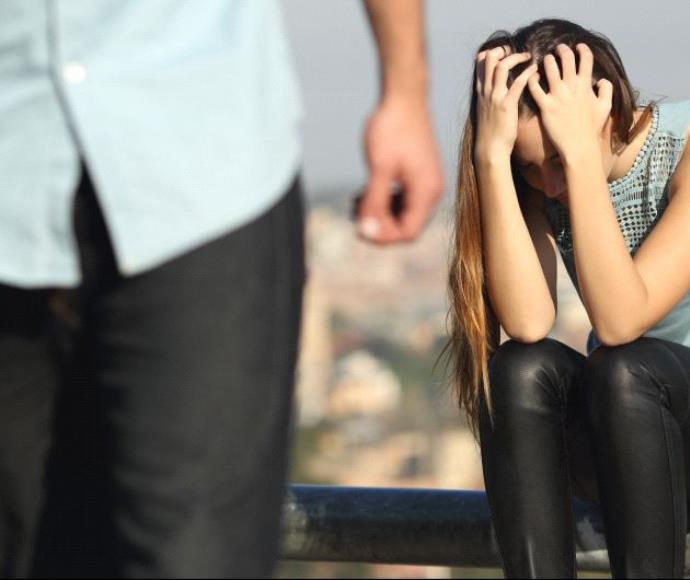 מריבה בין גבר לאישה