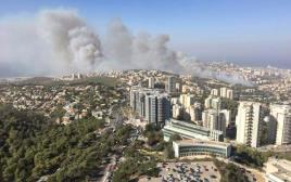 השריפה בחיפה, אזור האוניברסיטה