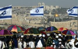 בני העדה האתיופית חוגגים את הסיגד בירושלים