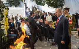 ראש הממשלה בנימין נתניהו בטקס האזכרה לנופלי מבצע קדש