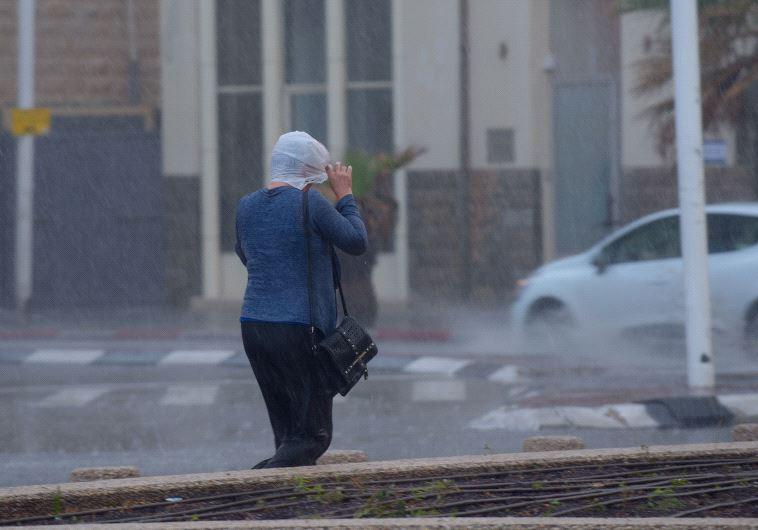 גשם כבד ברחבי הארץ (צילום: אבשלום ששוני)