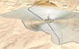 הדמיה של חוה סולארית בנגב