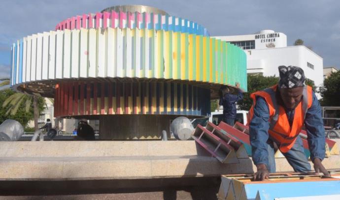 עבודות פירוק כיכר דיזנגוף