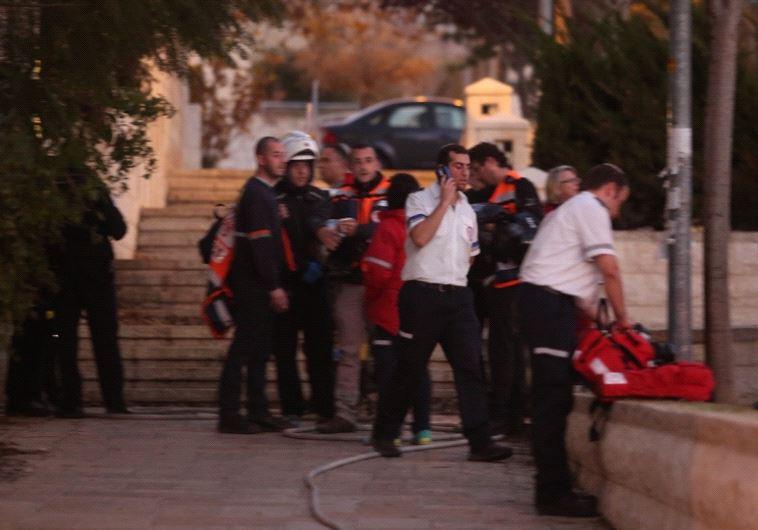 כוחות הכבאות בנקודת האירוע בירושלים. צילום: מרק ישראל סלם