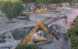 העבודות בכיכר דיזנגוף