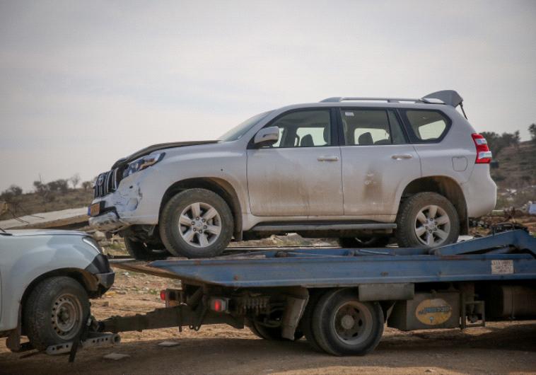 רכבו של יעקוב אבו אל-קיעאן, צילום: הדס פרוש, פלאש 90