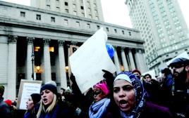 הפגנה באמריקה