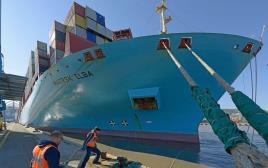 האונייה Maersk Elba בנמל חיפה