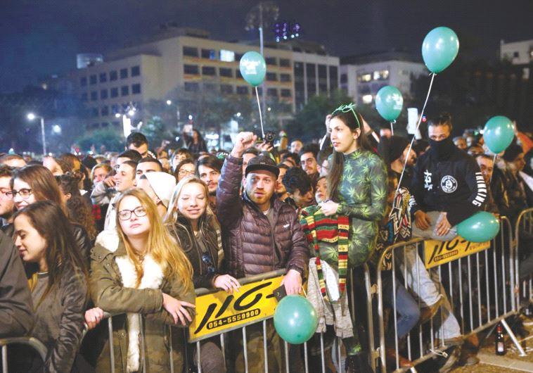 הפגנת הקנאביס בתל אביב