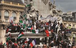 הפגנה אנטי-ישראלית בפריז
