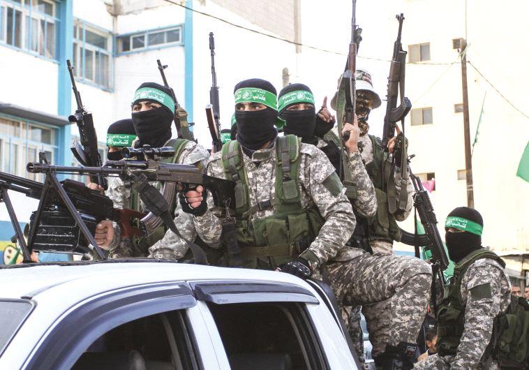 אנשי חמאס ברצועת עזה. צילום: עבד ראחים חטיב, פלאש 90