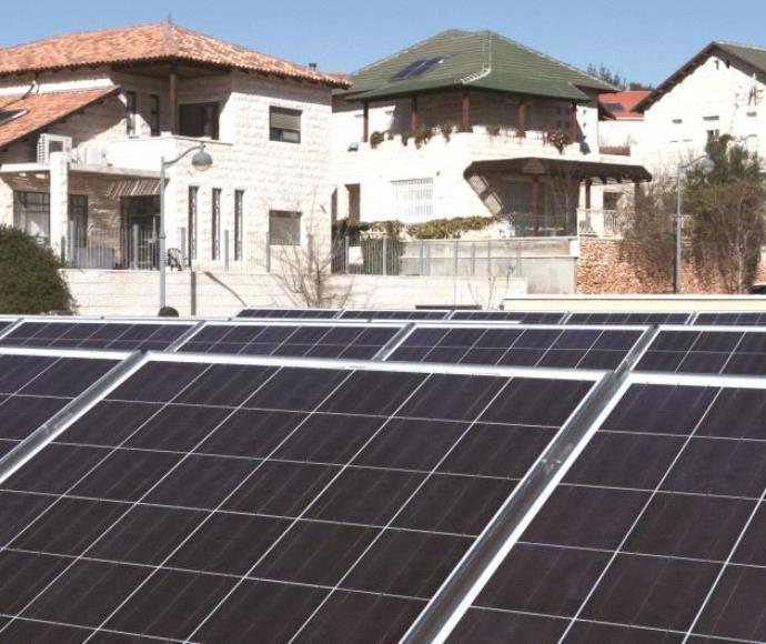 גגות סולאריים על בית בצור הדסה