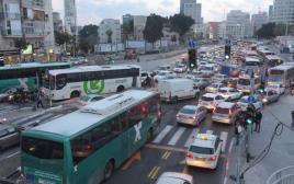 עומסי תנועה בתל אביב
