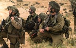 """תרגיל של חיילי מילואים מצה""""ל"""