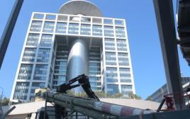 תאונת עבודה באתר בנייה סמוך לקריה בתל אביב