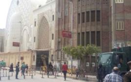 זירת הפיגוע באלכסנדריה, מצרים