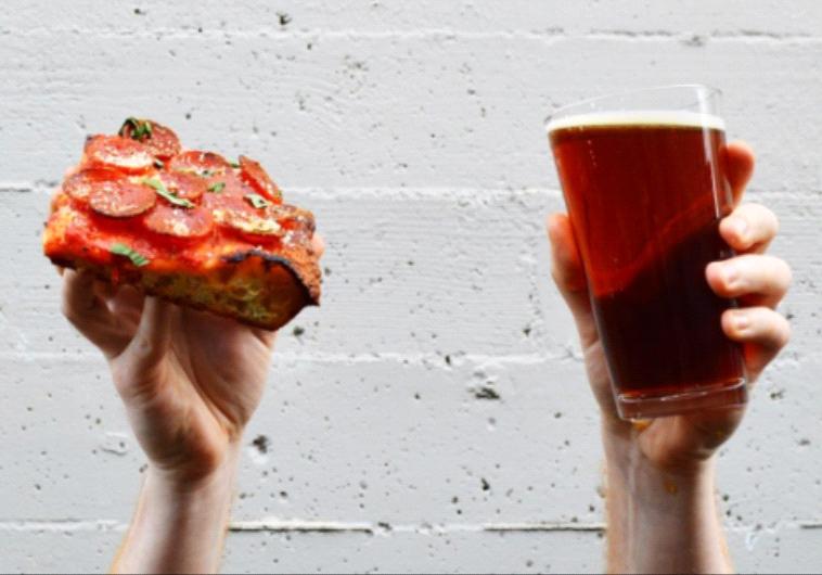 פיצה ובירה השילוב המנצח. צילום מסך דרך אינסטגרם