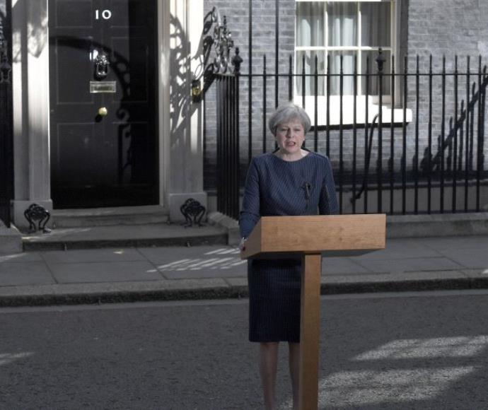 ראשת ממשלת בריטניה תרזה מיי