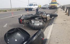 האופנוע שעליו רכב הגבר שנהרג בטמרה