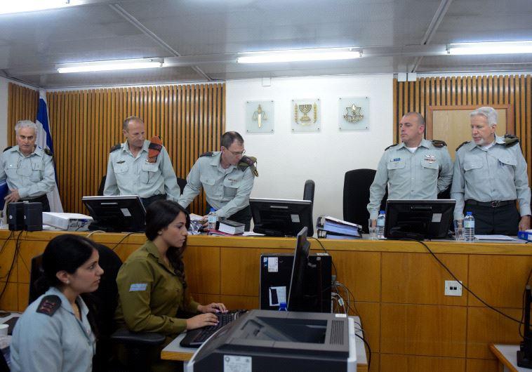 הרכב בית הדין בדיון על ערעורו של אלאור אזריה. צילום: אבשלום ששוני