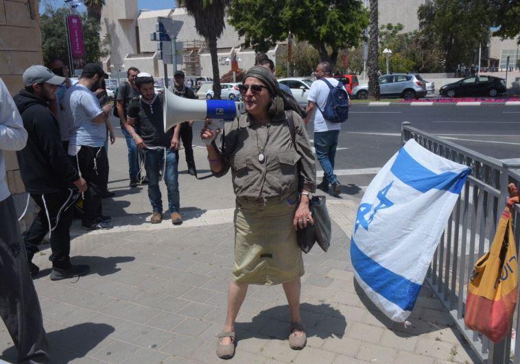 הפגנת תמיכה באלאור אזריה. צילום: אבשלום ששוני